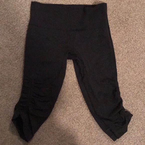 363451693dae83 lululemon athletica Pants | Lululemon Ruched Side Crop Leggings ...